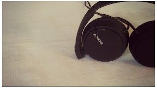 Sony Headphones MDR ZX110 AP - Black  - White