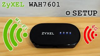 ZyXEL WAH7601 portable 4G router Wi-Fi • Unboxing, installation, configuration and test