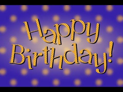 Happy birthday!Видео поздравление на английском языке.