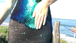 A Dress that Changes Color?!?! - Two Tone Sequin Fabric DIY!