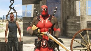 DEADPOOL Vs THE WILD WEST MOD! (GTA 5 Mods Funny Moments)