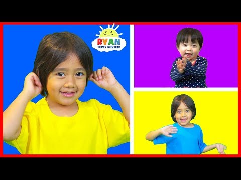 Body Parts Exercise Songs for Children with Ryan ToysReview!