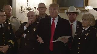 President Trump Meets with Sheriffs from Across the Country