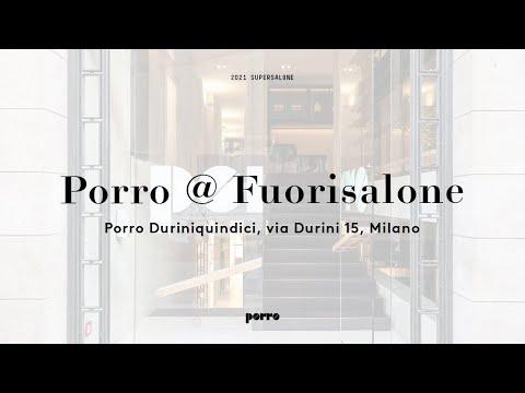 Porro - PORRO @ FUORISALONE 2021
