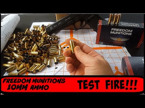 10mm test fire Munitionsre Freedom  Ammo Glock G40