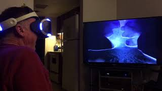 70 year old dad tries RollerCoaster Legends on psvr