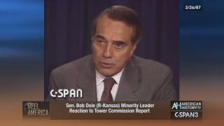 Sens. Dole & Glenn React to Tower Report & Iran-Contra - 2/26/1987