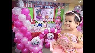 Hello Kitty Themed Birthday Party - Chin-Chins 1st Birthday Ft Jollibee