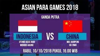 Live Streaming Quarter Final Badminton Ganda Putra, Indonesia Vs China di Asian Para Games 2018
