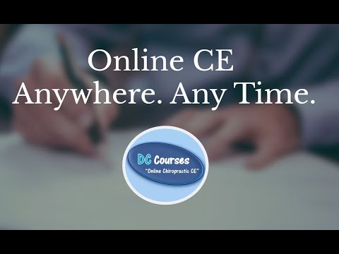 Online Chiropractic CE Seminars for Chiro Classes DC courses hours continuing education ceu credits