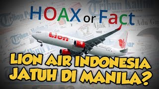 Hoax: Pesawat Lion Air Indonesia Jatuh di Manila, Filipina?