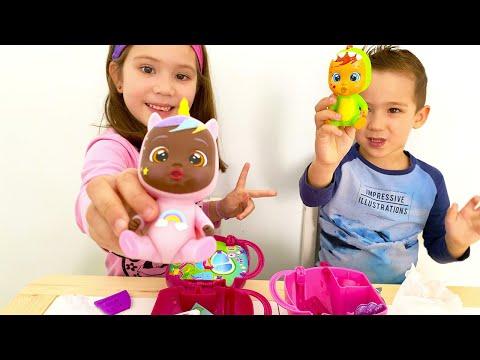 🦄🌈BEBÉS LLORONES ⭐💦Lágrimas Mágicas💧Fantasy Casita Alada. Sofia y Max juegan con 🦄JASSY 🦄 y 🦖DINA 🦖