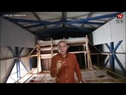 نقل مركب الملك خوفو من الأهرامات وحتى المتحف الكبير قطعة واحدة