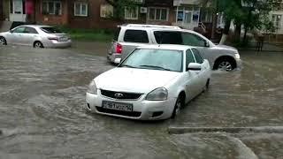 Потоп в Павлодаре 15.07.2018г.