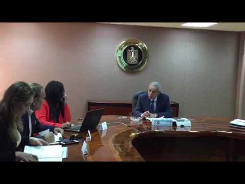 اجتماع الوزير/طارق قابيل مع المهندس/هانى توفيق رئيس مجلس ادارة شركة يونيون كابيتال