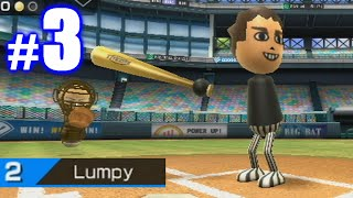 LUMPY MASHES BOMBS IN DEBUT! | Wii Sports Baseball #3