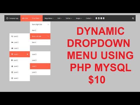 dynamic drop down menu in php mysql
