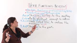 English Grammar: Verb Function Review