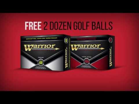 Warrior Free 2 Dozen Golf Ball Ad 2017