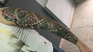 Maori sleeve tattoo made by DareDevil Tattoo ,Pernik Bulgaria