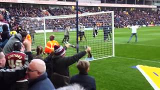 Burnley Fans Celebrate Barton's Goal at Preston 2016