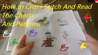 🦆 How To Cross Stitch And Read The Charts And Patterns 🦢