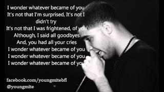 Drake - Where Were You Ft. Dawn Richard ( Lyric Video )