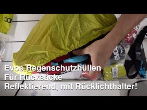 Evoc Regencover für Rucksäcke - Flureszierend, mit Rücklichthalterung