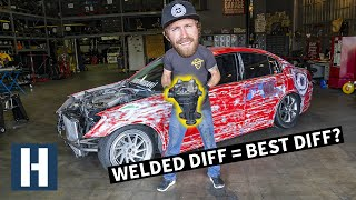 How to Make a Car More Driftable! Welded Diff, Stock Handbrake Extension, and Harness Bar
