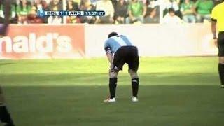 サッカーまたも試合中にメッシが嘔吐。アルゼンチン✕スロベニア戦