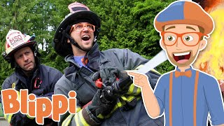 Blippi Visits A Firetruck Station! | Learn About Vehicles For Kids | Educational Videos For Toddlers