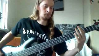 Aborted - Dead Wreckoning - bass cover