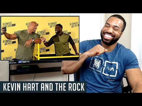 Kevin Hart and The Rock Johnson Funniest Moments - REACTION! (видео)