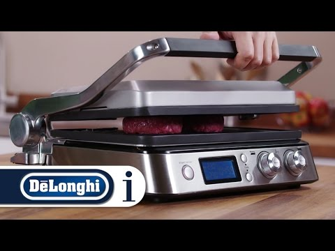 , DeLonghi America CGH1020D Livenza All Day Combination Contact Grill and Open Barbecue, Stainless Steel
