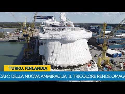 Costa Smeralda  reçoit sa peinture de coque aux couleurs de l'Italie