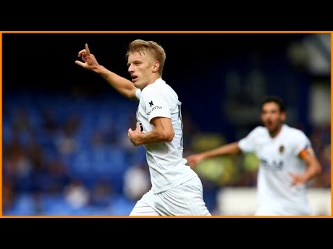 Daniel Wass first goal for Valencia vs Everton