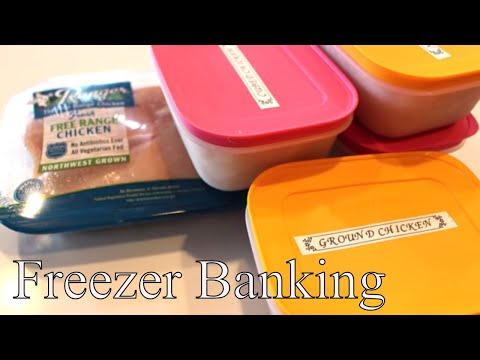 Freezer Banking Home Ground Chicken With Linda's Pantry