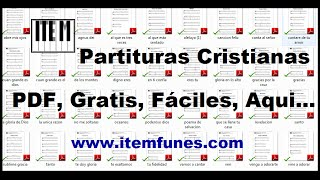 DESCARGAR PARTITURAS CRISTIANAS GRATIS FACILES (PDF) Piano Guitarra Canto Letras Tablatura