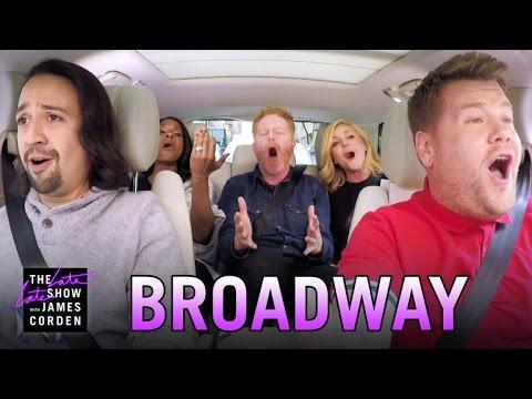 Broadway Carpool Karaoke ft. Hamilton & More