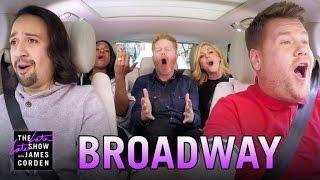 Broadway Carpool Karaoke Ft Hamilton & More
