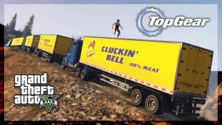 GTA 5 Online - (Top Gear Edition) Semi Truck Challenge!