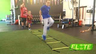 Youth Athletes Improving Running TECHNIQUE with Ladder
