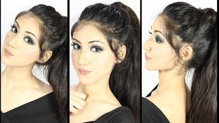 New High Ponytail Hairstyle With Trick | Messy Ponytail Hairstyle