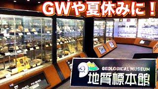超穴場の観光スポット!茨城県にある地質博物館!珍しい鉱石や鉱物、宝石も!世界の火山活動状況や、地層も!