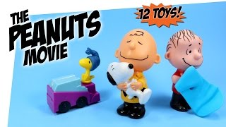 The Peanuts Movie McDonalds Happy Meal 12 Toys Collection Review