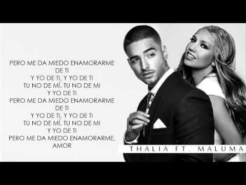 Desde Esa Noche   Maluma Ft Thalia   (Video Letra) 2016