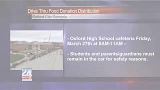 Oxford City SchoolsDrive-Thru Food Donation Distribution