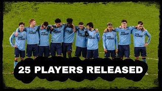 25 players are released from Newcastle United