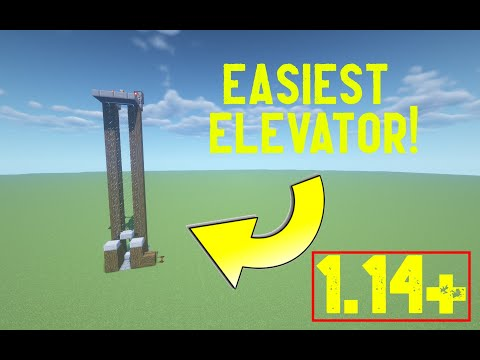 How To Make THE EASIEST ELEVATOR in Minecraft 1.14+
