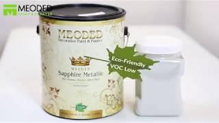 Sapphire Metallic Paint Sahara Effect- Glass Beads Lines/Fabric- Meoded Paint